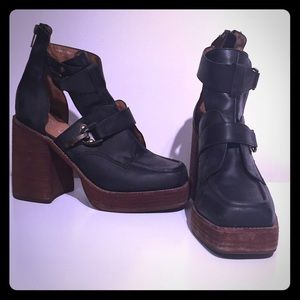 Jeffrey Campbell buckled platforms